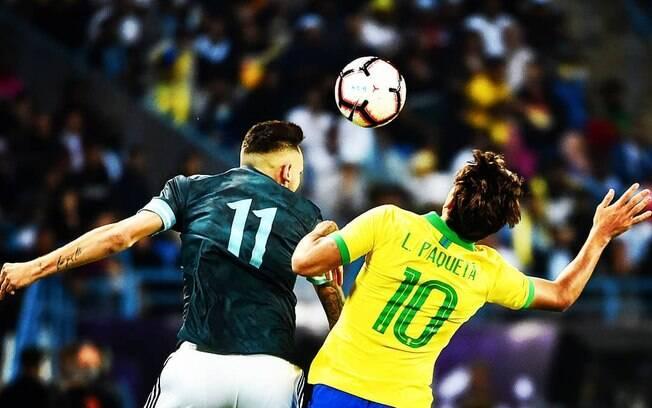 Lucas Paquetá, jogador do Milan, usou a camisa 10 contra a Argentina e desagradou Rivaldo