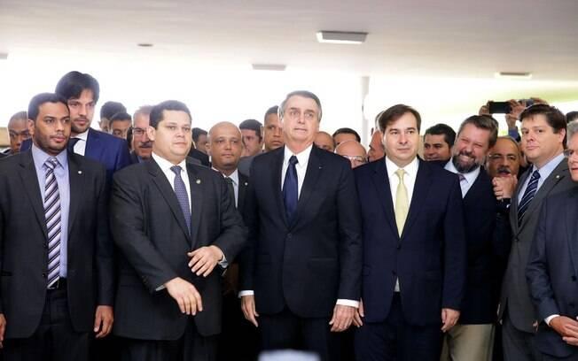 Bolsonaro foi até o Congresso Nacional nesta quarta-feira (20) para entregar a proposta de reforma da Previdência
