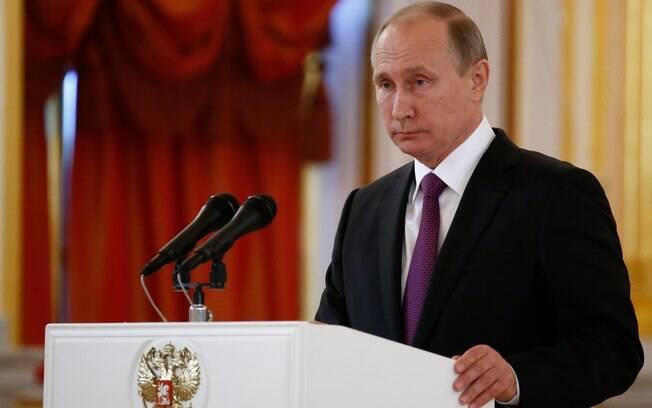 O índice de aprovação do presidente Vladimir Putin caiu para 59% em abril, segundo pesquisa