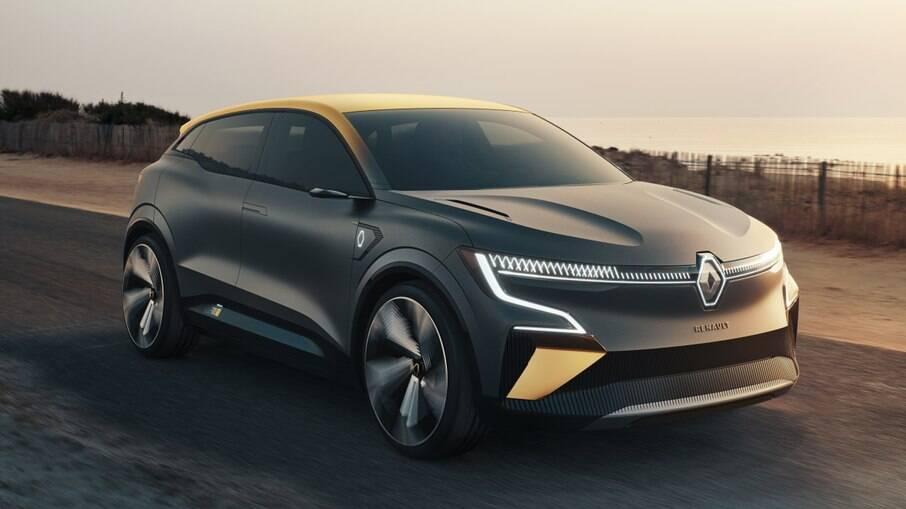 Renault Mégane eVision: versão conceitual do que será a versão elétrica que será fabricada em série