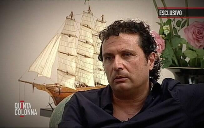 Francisco Schettino deu entrevista ao programa Quinta Colonna, na Itália
