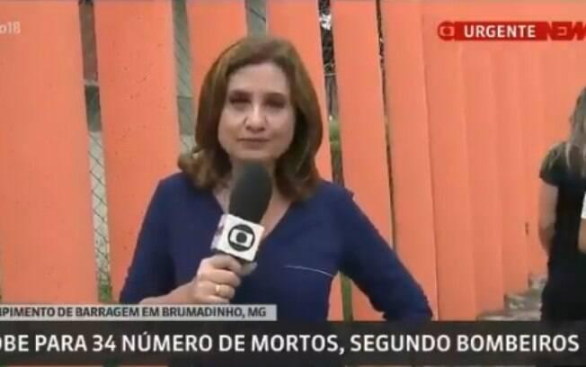 Isabela Scalabrini foi criticada na web por sua cobertura do desastre em Brumadinho