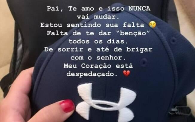 Nathalia Queiroz faz homenagem ao ex-assessor de Flávio Bolsonaro em rede social
