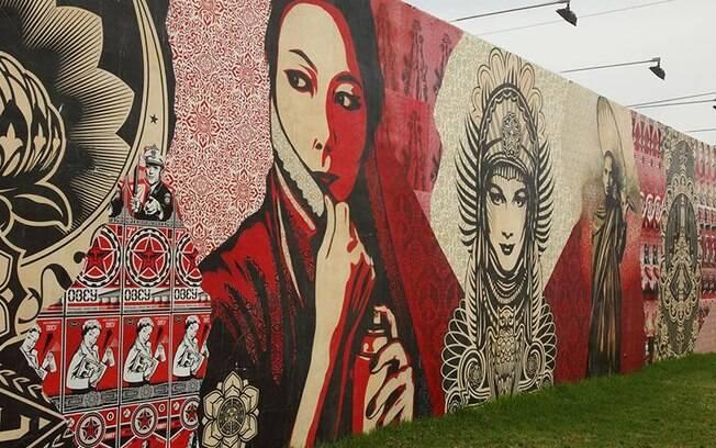 O bairro de Wynwood é repleto de grafites ótimos para quem curte tirar aquela selfie colorida