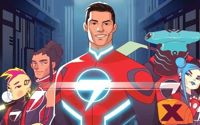 CR7 vai liderar time de super heróis em nova série de quadrinhos e animação.