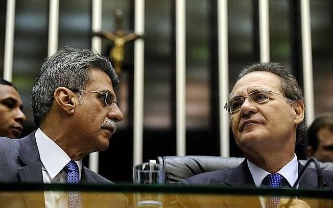 Roméro Jucá (PMDB-RR) e Renan Calheiros (PMDB-AL) são suspeitos de quererem impedir o andamento da Lava Jato