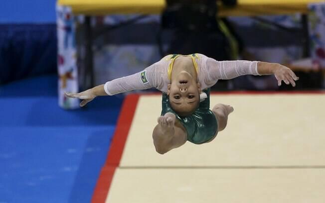 Flávia Saraiva, revelação da ginástica artística brasileira. Foto: Washington Alves/Exemplus/COB