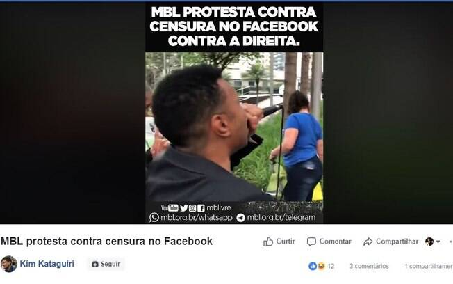 MBL protestou em frente ao Facebook, em São Paulo, por páginas retiradas do ar