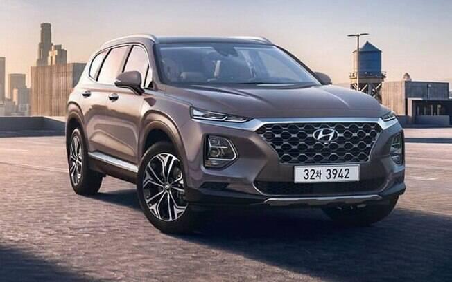 Hyundai Santa Fe 2019 é um dos novos SUVS da marca coreana que devem chegar ao Brasil antes do Hyundai Elantra 2019