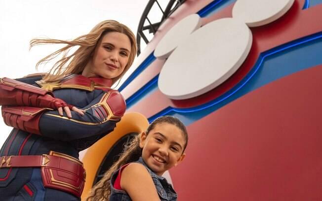 Uma das novidades é que a Capitã Marvel entra para o time de heróis que animam os viajantes da Disney Cruise Line