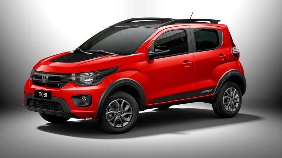 Fiat Mobi 2022: versão com apelo aventureiro Trekking passa a ter novos adesivos e detalhes escurecidos