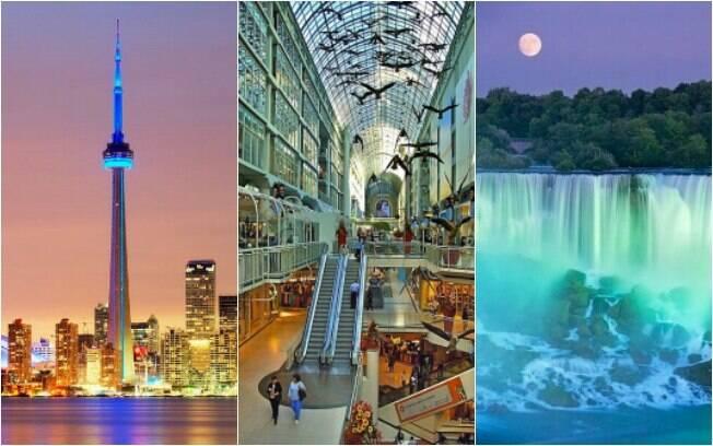 CN Tower, shopping subterrâneo e Niagara Falls são pontos turísticos que chamam atenção de intercambistas