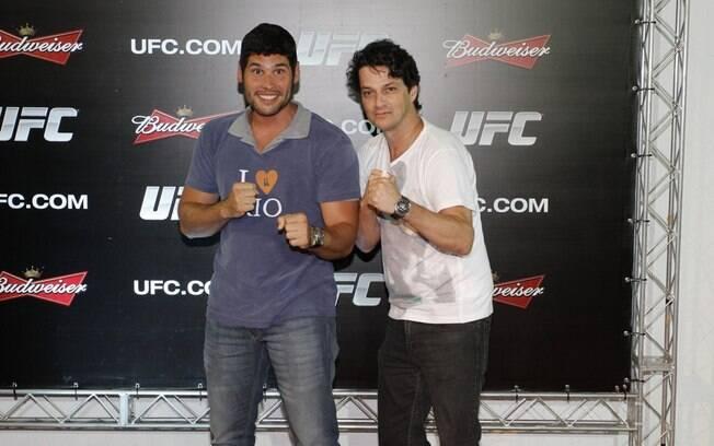 Marcelo Serrado e Dudu Azevedo brincaram no tapete vermelho do UFC