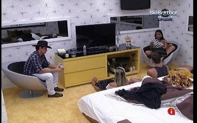 Fael, Fabiana, Kelly e Jonas conversam sobre a saida de Laisa e o comportamento de Rafa