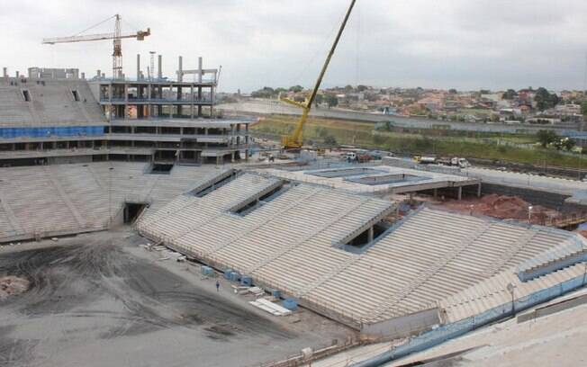 Vista parcial do estádio do Corinthians