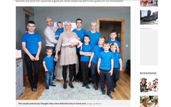 A britânica Alexis Brett teve 11 filhos, sendo 10 deles meninos e uma menina, Cameron.