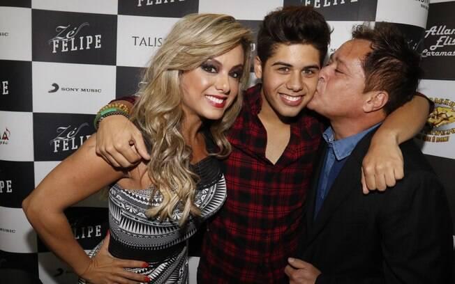 Zé Felipe, Poliana Rocha e Leonardo. Foto: Divulgação