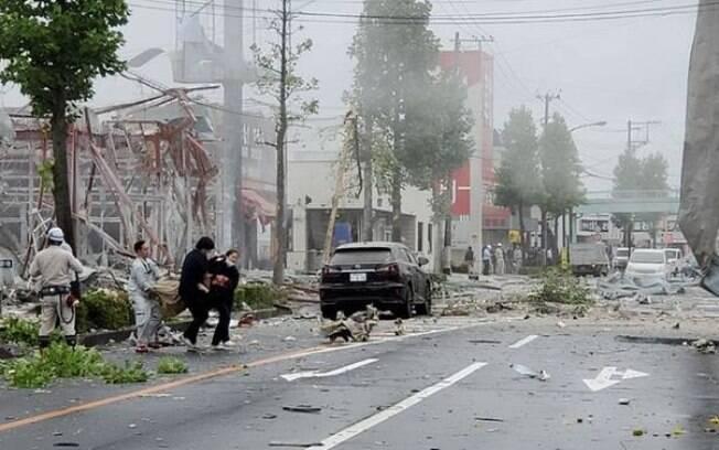 Restaurante explodiu e deixou um morto e 17 feridos no Japão.