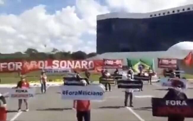 Manifestação contra Bolsonaro nesta quarta-feira