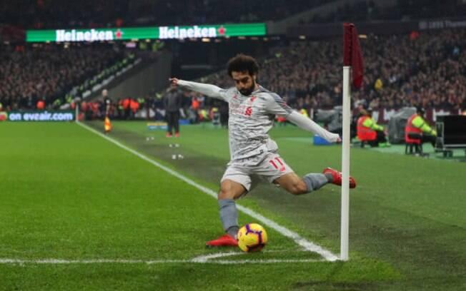 Mohamed Salah foi vítima de insultos racistas no jogo contra o West Ham