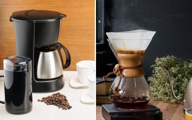 cafeteira elétrica e cafeteira chamex