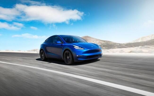 O SUV Model Y foi apresentado nos estúdios de design da Tesla em Los Angeles e deve chegar ao mercado em 2022