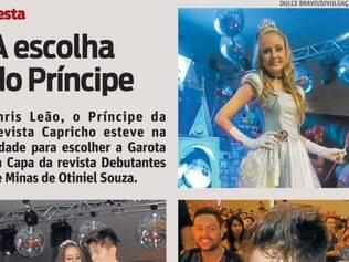 Chris Leão, o Príncipe da Revista Capricho esteve na cidade para escolher a Garota da Capa da revista Debutantes de Minas de Otiniel Souza.