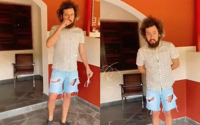 Cartolouco esconde cigarro suspeito ao ser flagrado por Jake