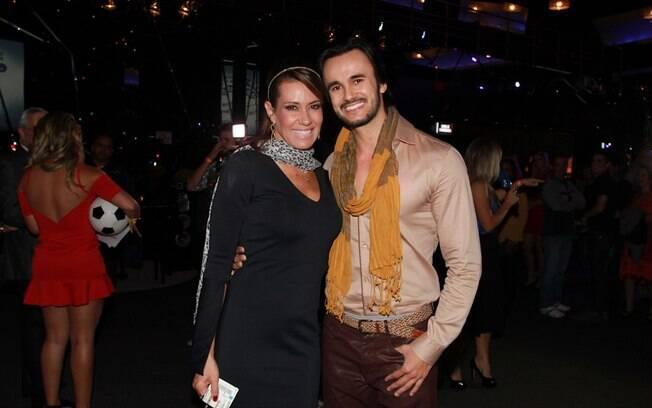 Solange Frazão com o namorado