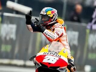 Dani Pedrosa chegou a mais uma vitória em sua carreira na MotoGP
