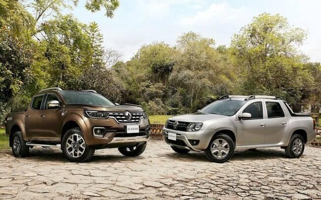 Além da Toro, a nova picape da Ford concorrerá com a Renault Oroch (direita) e será novidade como a Alaskan (esquerda)