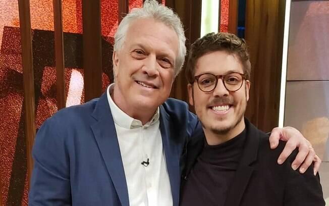 Pedro Bial e Fábio Porchat