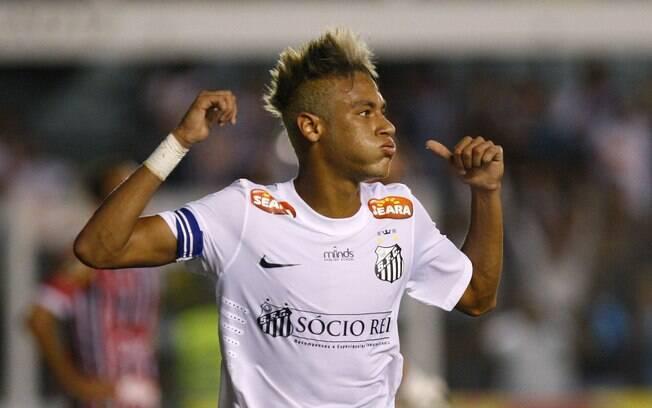 Neymar usa visual platinado no Paulistão  2013