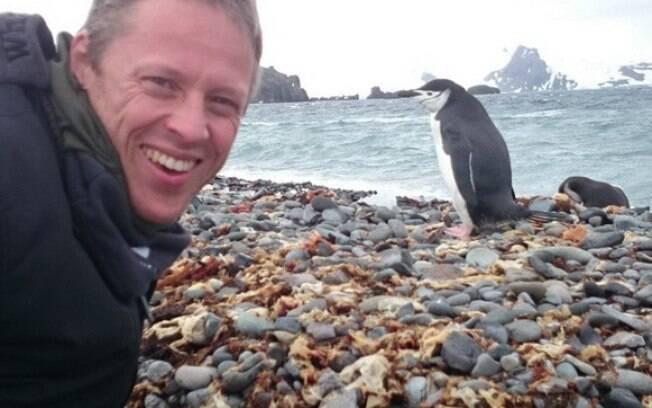 Gunnar Garfors em viagem para a Antártica