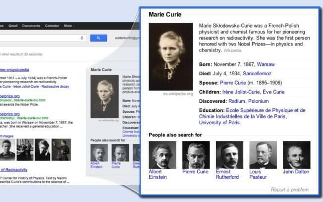 Box na busca do Google mostrará informações resumidar sobre assunto pesquisado