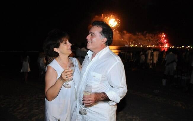 Tony Ramos com a mulher, Lidiane