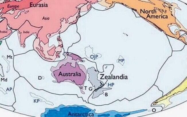 Diz estudo que a Terra tem um novo Continente — Zelândia