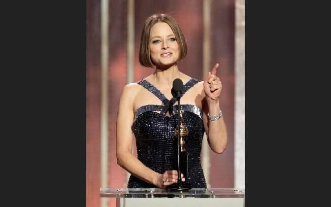 Jodie Foster falou sobre sua saída do armário em seu discurso no Globo de Ouro em 2013. Foto: Reprodução/Guff.com