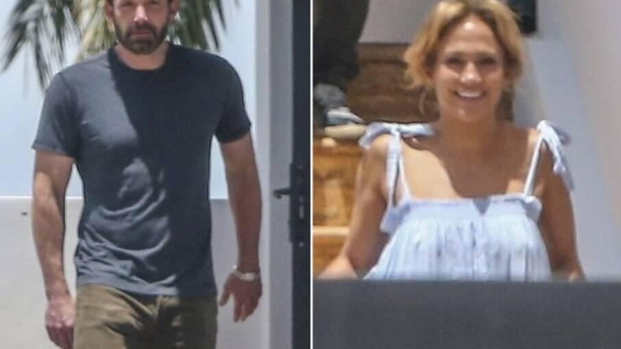 Ben Affleck e Jennifer Lopez são fotografados na mansão da cantora em Miami