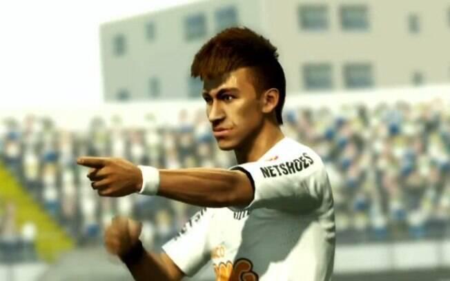 Imagem de Neymar em jogo de vídeo-game
