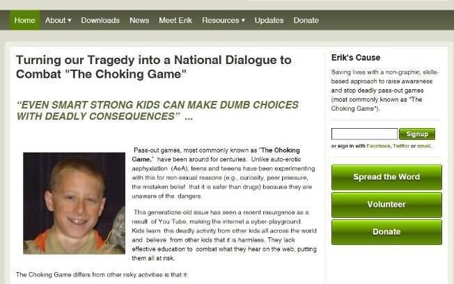 Grupo Erik's Cause foi criado pelos pais do jovem em campanha contra o jogo de risco nos EUA