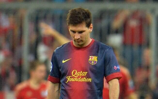 Lionel Messi, após derrota do Barcelona por 4  a 0 para o Bayern, pela Liga dos Campeões: