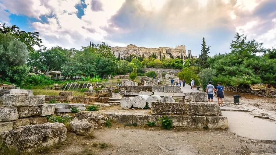 Subida de Acrópole, em direção ao templo