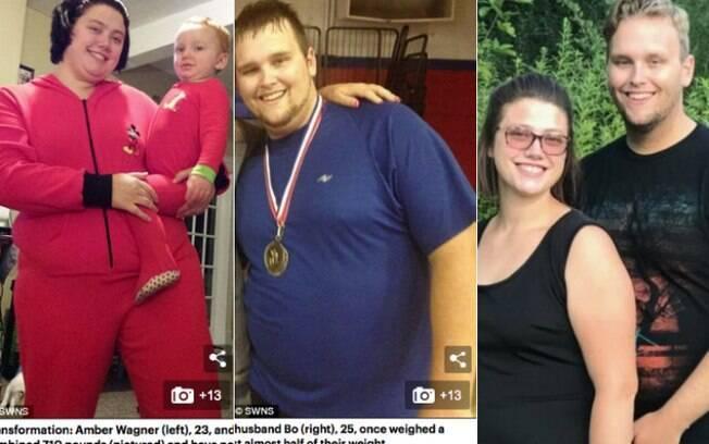 Jornal 'Daily Mail' publica fotos do antes e depois o casal Amber e Bo Wagner