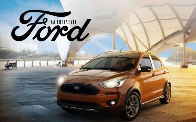 Ford Ka FreeStyle: tem uma série de itens exclusivos, como as rodas pintadas de cinza grafite e as barras na capota