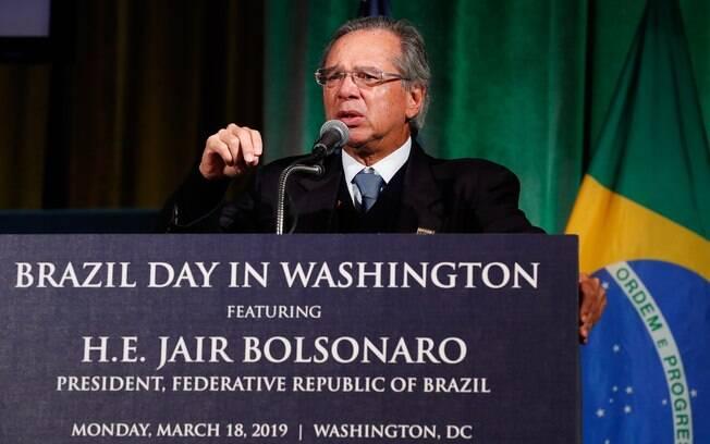 Ministro da Economia, Paulo Guedes, exaltou imagem do presidente Jair Bolsonaro nos EUA