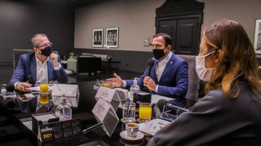 Reunião ocorreu de forma virtual com membros do governo de SP e de outros estados