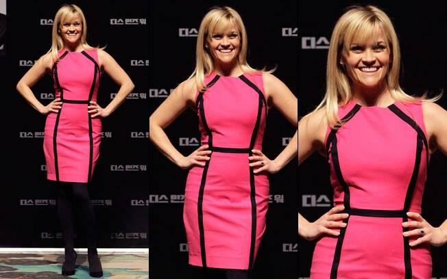 Reese Witherspoon e seu modelito Michael Kors: efeito emagrecedor