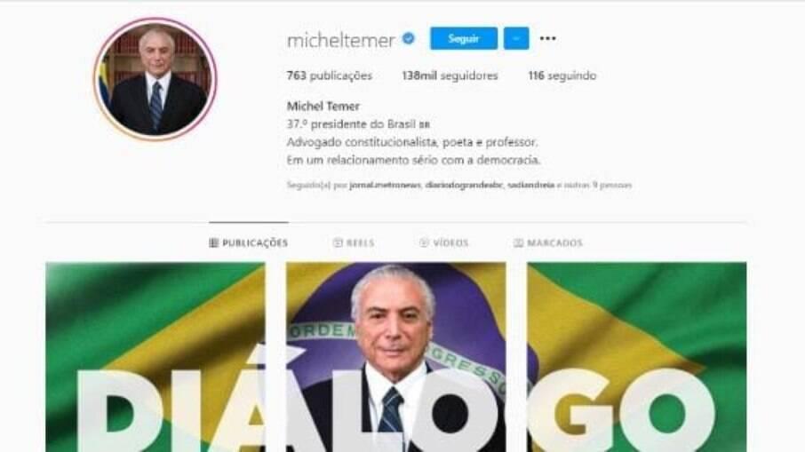 Instagram de Michel Temer
