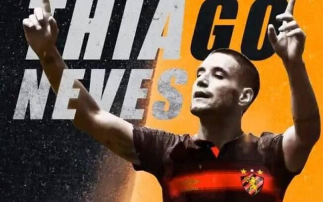 Thiago Neves foi anunciado pelo Sport nesta quarta